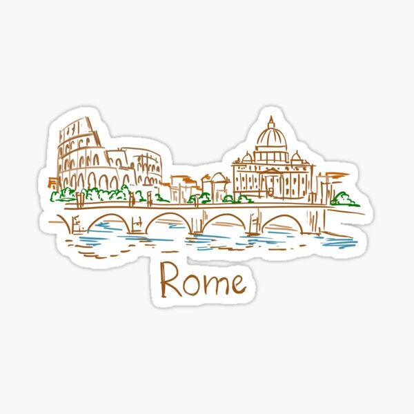 Rome Panorama Sticker