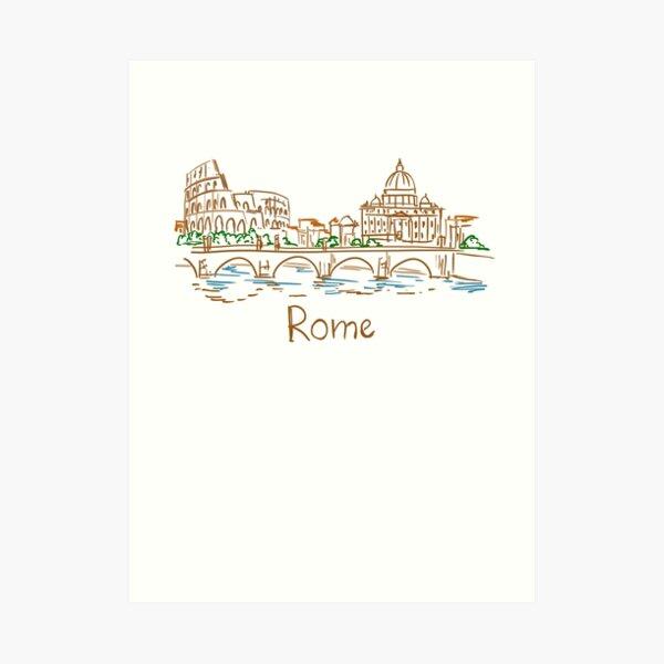 Rome Panorama Art Print