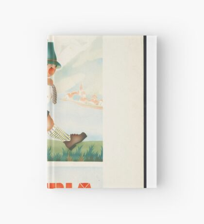 Austria Vintage Travel Advertisement Art Poster Hardcover Journal
