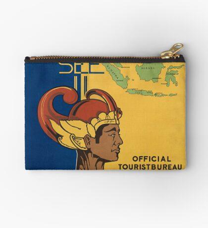 Netherland India Vintage Travel Advertisement Art Poster Zipper Pouch