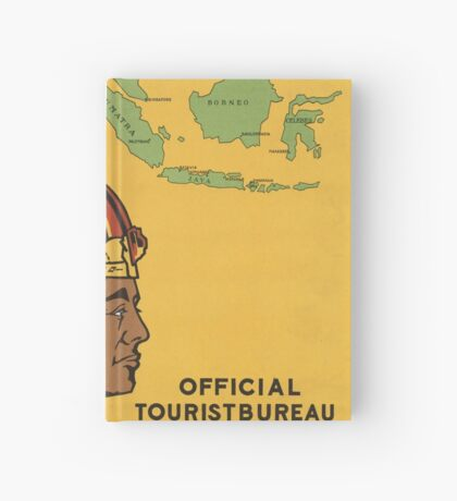 Netherland India Vintage Travel Advertisement Art Poster Hardcover Journal