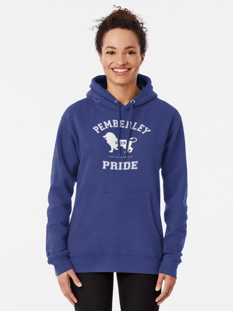 Alternate view of Pemberley Pride - Team Darcy - Pride and Prejudice Pullover Hoodie