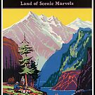 Train Utah Colorodo Rockies Vintage Travel Advertisement Art Poster by jnniepce