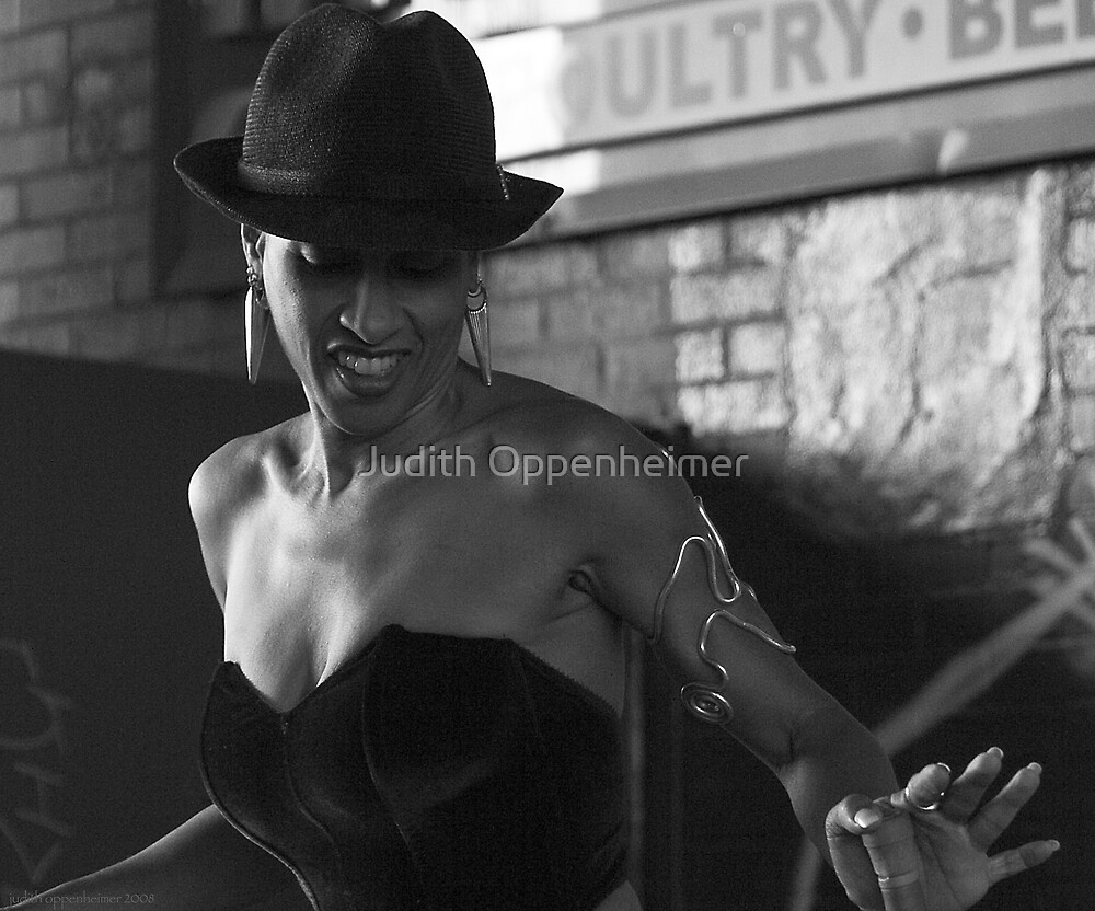 Mistress Didi - Photojournalism Portrait in Black and White by Judith Oppenheimer
