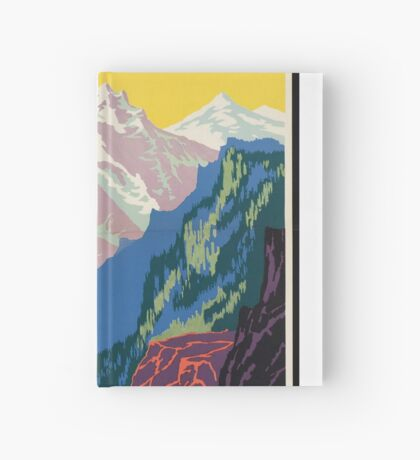Train Utah Colorodo Rockies Vintage Travel Advertisement Art Poster Hardcover Journal