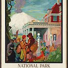 New Zealand Vintage Travel Advertisement Art Poster by jnniepce