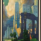 Chicago Vintage Travel Advertisement Art Poster by jnniepce