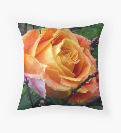 Beauty in Orange Throw Pillow