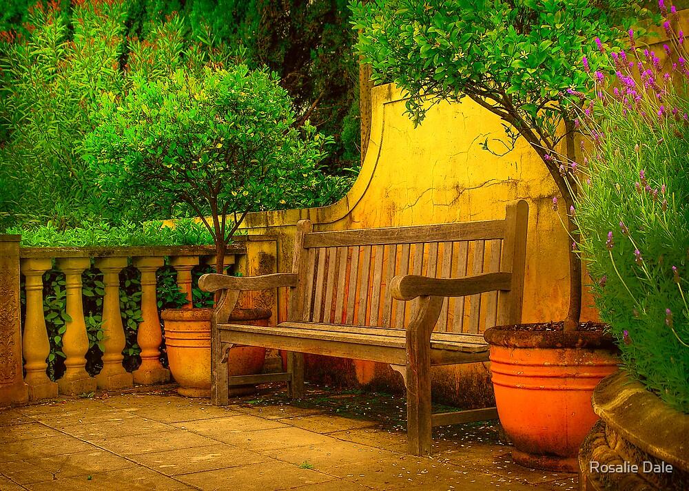 Mediterranean Bench ~ No 1 by Rosalie Dale