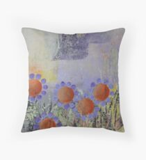 Cheery Flowers Abstract Throw Pillow