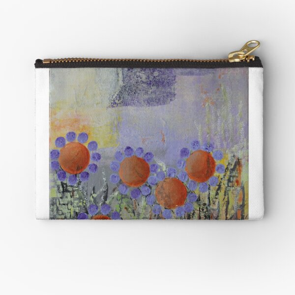 Cheery Flowers Abstract Zipper Pouch
