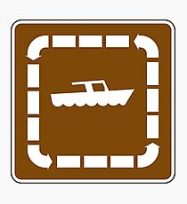 Boating Sign Photographic Print