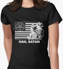 Hail Satan 666 T-Shirt Women's Fitted T-Shirt