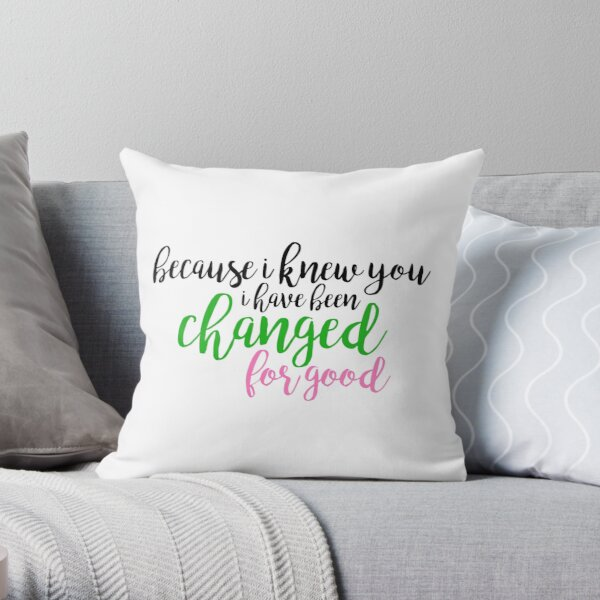 I have been changed for good - Wicked Throw Pillow