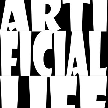Artificial life,  logo in white by robelf