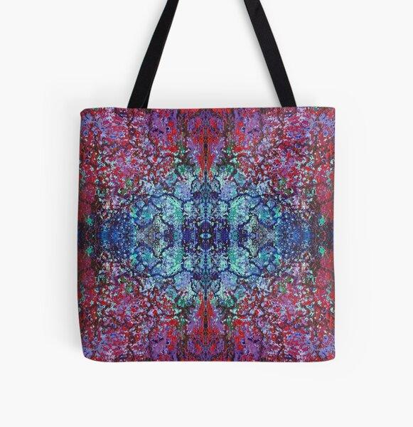 Bohemian Blossom Burst All Over Print Tote Bag