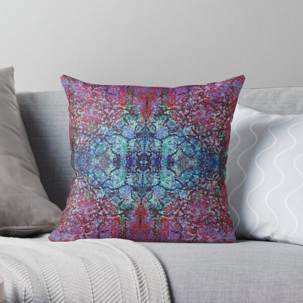 Bohemian Blossom Burst Throw Pillow