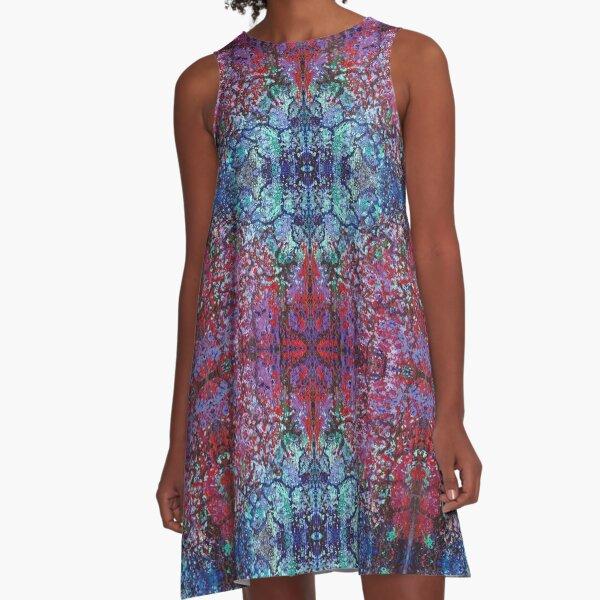 Bohemian Blossom Burst A-Line Dress