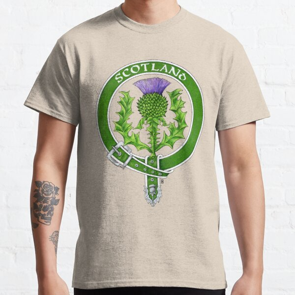 Belted Thistle Badge of Scotland Classic T-Shirt