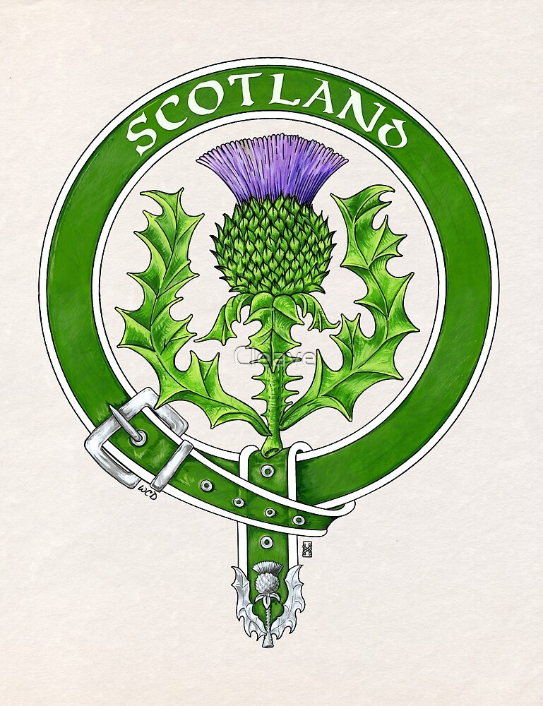 Belted Thistle Badge of Scotland by Cleave
