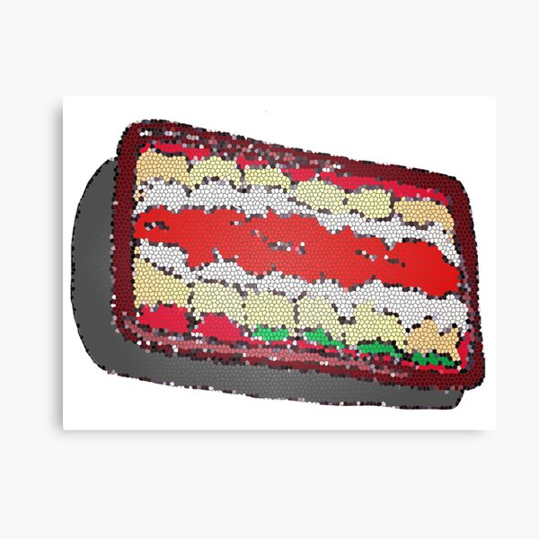 Tub of Lasagna rolls- stained glass Canvas Print