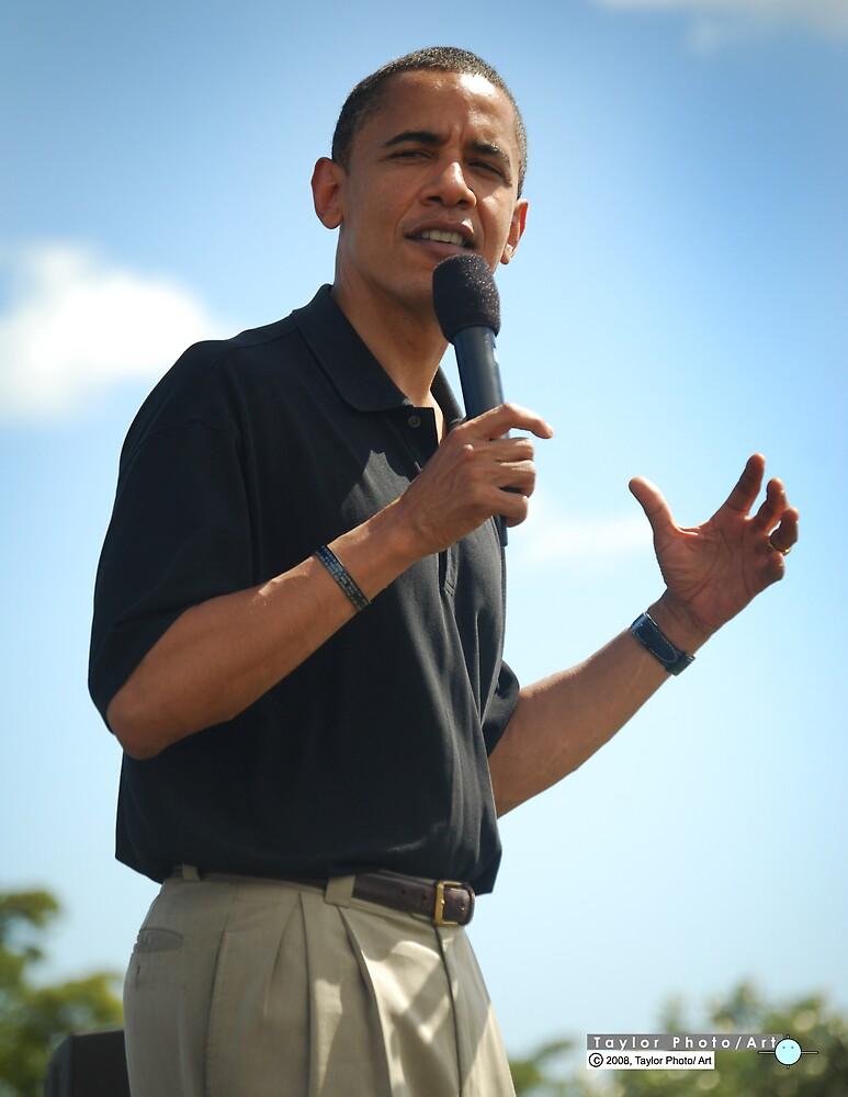 Barack Obama makes a point by Greg Kolio Taylor