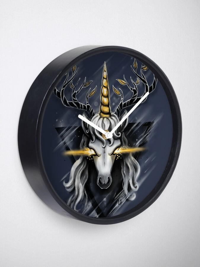 Alternate view of Deer Unicorn Clock