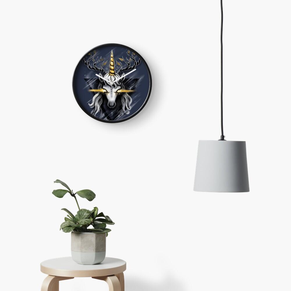 Deer Unicorn Clock