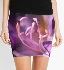 Lavender Rhododendron Flower Mini Skirt