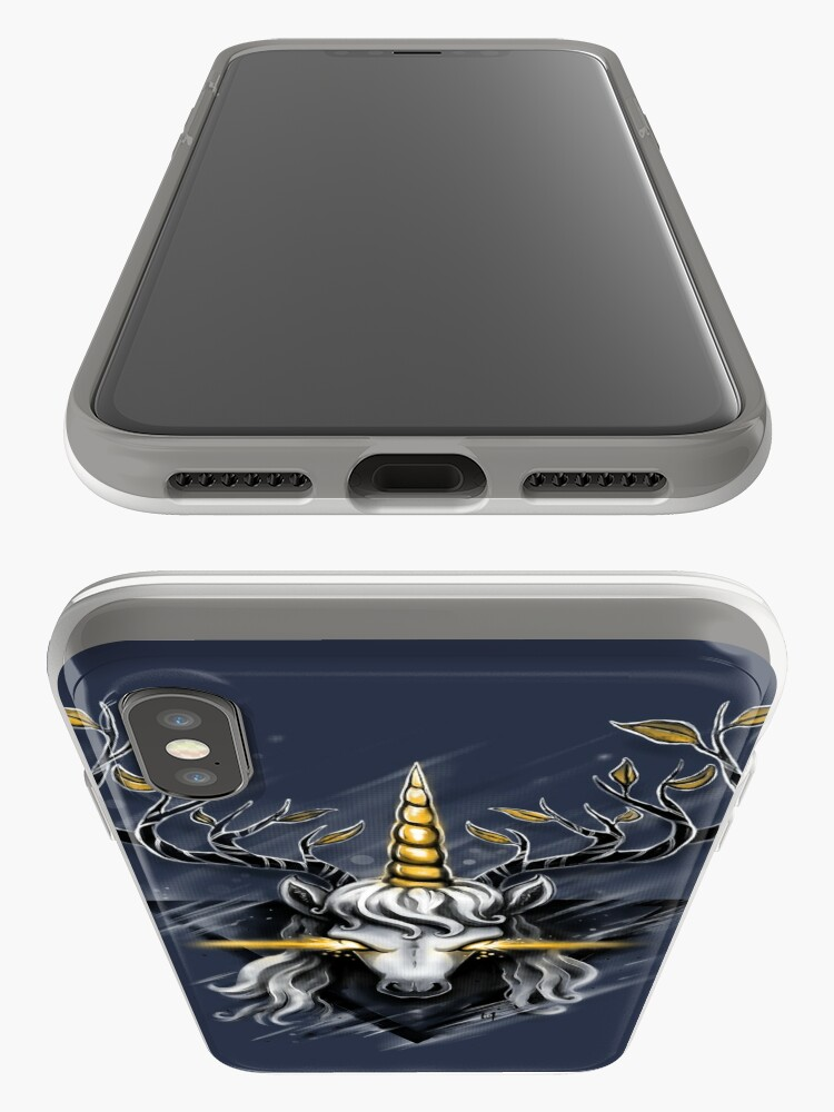 Alternate view of Deer Unicorn iPhone Case & Cover