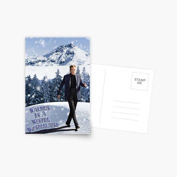 Walken In A Winter Wonderland Postcard