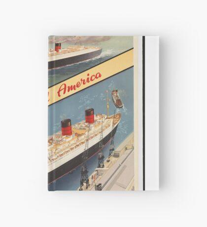 Cunard Cruise Ship Vintage Travel Advertisement Art Poster Hardcover Journal