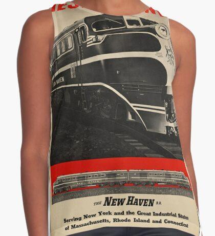 Diesel Power Train Vintage Travel Advertisement Art Poster Sleeveless Top