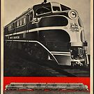 Diesel Power Train Vintage Travel Advertisement Art Poster by jnniepce