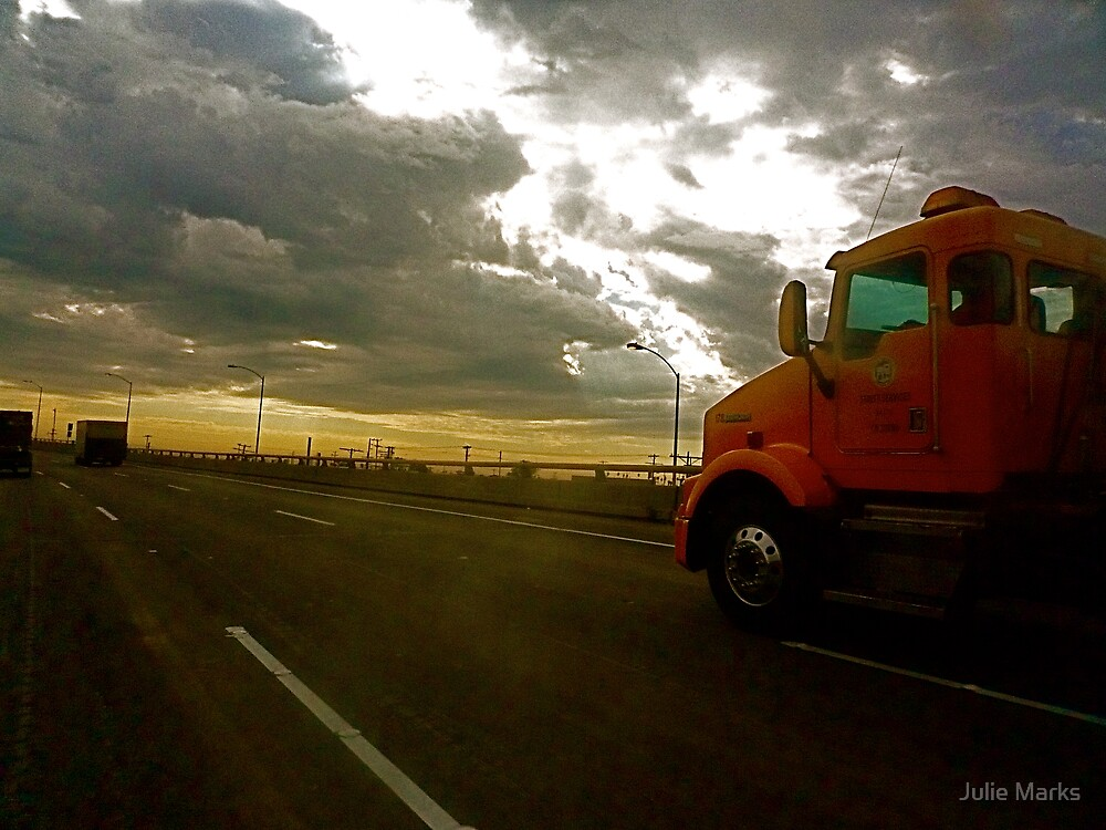Truckin' On A Cloudy Los Angeles Afternoon by Julie Marks