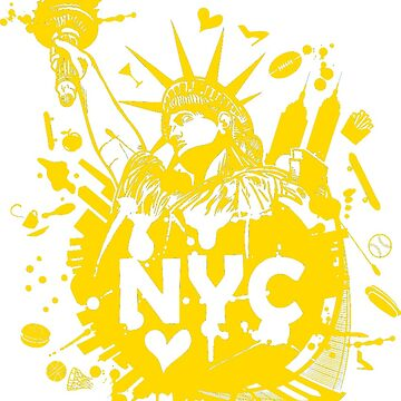 New York Iconic Liberty Statue T-Shirt by tshirtfever
