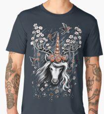 Deer Unicorn Flowers Men's Premium T-Shirt