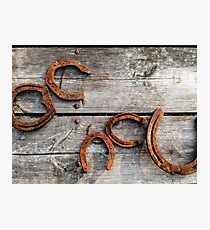 Lucky Horse Shoes Photographic Print