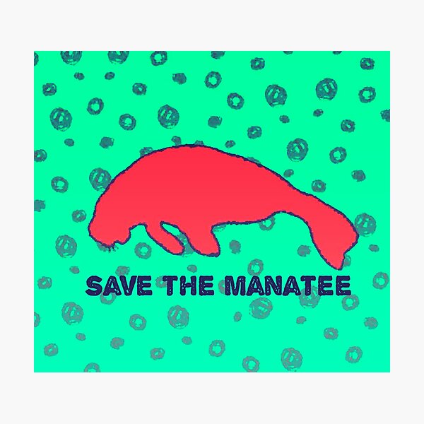 Save the Manatee Photographic Print