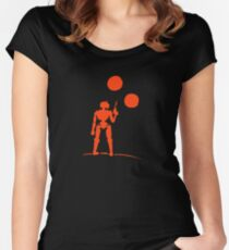 Beneath Twin Suns Women's Fitted Scoop T-Shirt