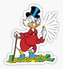 Dagobert and the money Sticker