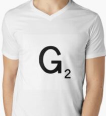 Scrabble Large Letter G with White Background T-Shirt