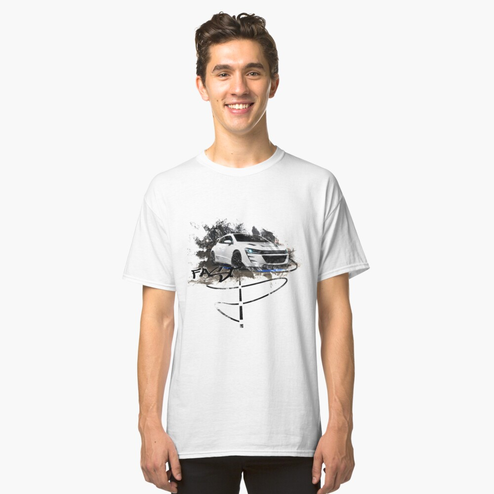 Exhood Tuning Car at Night 1 Classic T-Shirt Front