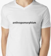 Anthro (Black) Men's V-Neck T-Shirt