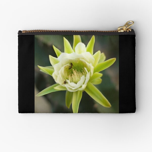 Princess of the Night - Bloom with Playful Bees Zipper Pouch