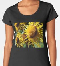 Sunflowers in Bloom - Shee Nature Photography Premium Scoop T-Shirt