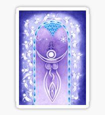 Pagan Art. Mondgöttin und Traumwelt. Sticker