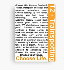 Trainspotting 2 - Choose Life Metal Print