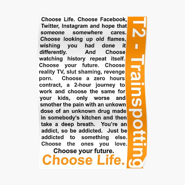 Trainspotting 2 - Choisissez la vie Poster
