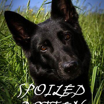 german shepherd black spoiled rotten by marasdaughter